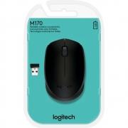 Mouse sem fio Logitech M170 com Design Ambidestro Compacto, Conexão USB e Pilha Inclusa