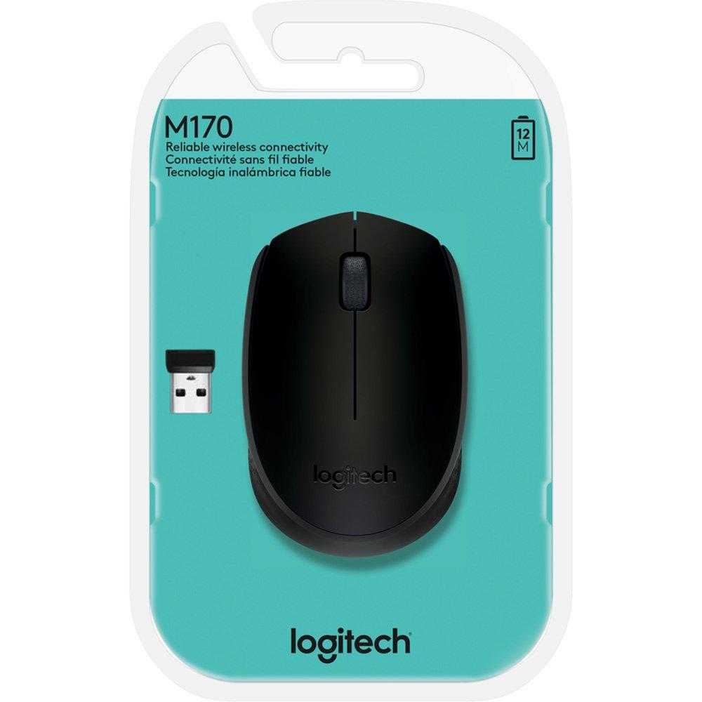 Mouse sem fio Logitech M170 com Design Ambidestro Compacto, Conexão USB e Pilha Inclusa  - Sixtosix