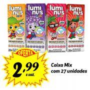 A MELHOR OPÇÃO PARA A LANCHEIRA! Luminus Kids sabores variados 200ml (27 unidades)