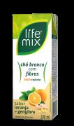 CHÁ BRANCO COM LARANJA E GENGIBRE COM FIBRAS - LIFE MIX - 200ML