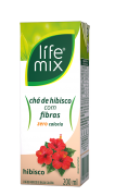 CHÁ DE HIBISCO COM FIBRAS - LIFE MIX - 200ML