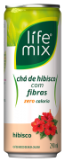 LIFE MIX CHÁ DE HIBISCO COM FIBRAS LATA 290 mL - Frete grátis para cidade SP acima de R$50,00
