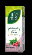 CHÁ VERDE COM CRANBERRY COM FIBRAS - LIFE MIX - 200ML