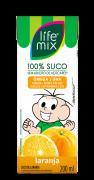 LIFE MIX KIDS LARANJA 200ML - Frete grátis para cidade de São Paulo acima de R$50,00