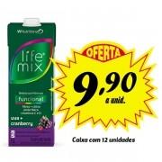 Bebida funcional Life Mix Uva + Cranberry 1L (12 unidades)