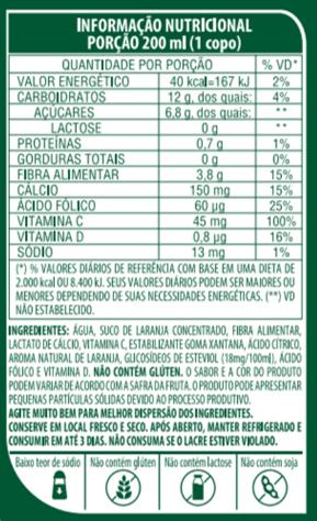 SUCO DE LARANJA DE BAIXA CALORIA - LIFE MIX - 1L