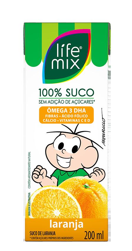 SUCO DE LARANJA - LIFE MIX KIDS - 200ml