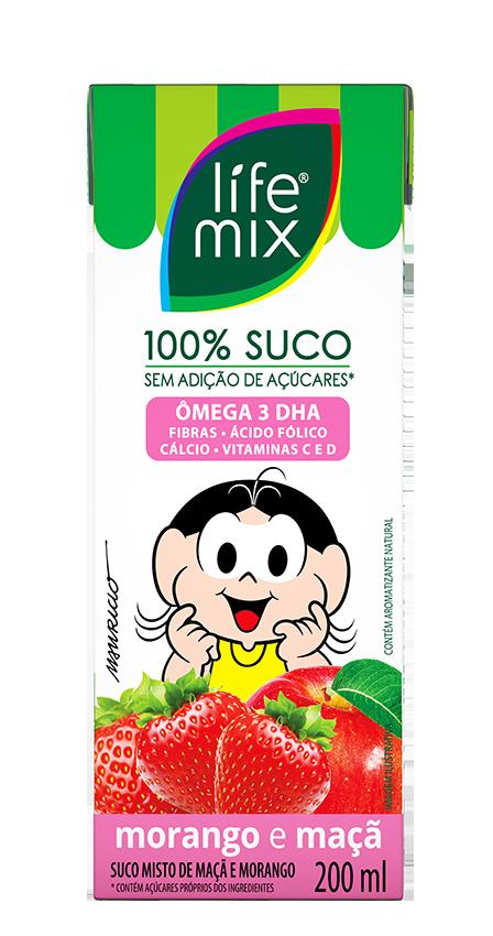 SUCO DE MORANGO COM MAÇÃ - LIFE MIX KIDS - 200 ML