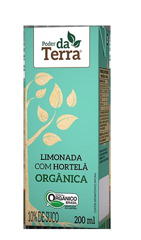 PODER DA TERRA LIMONADA ORGÂNICA HORTELÃ 200 mL - Frete grátis para cidade SP acima de R$50,00  - Life Mix