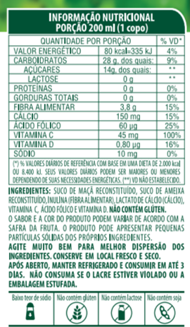 SUCO 100% SABOR AMEIXA COM MAÇÃ - LIFE MIX - 200 ML