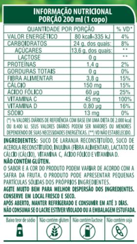 SUCO 100% SABOR LARANJA COM ACEROLA - LIFE MIX - 200 ML