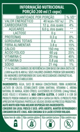 SUCO DE MAGA DE BAIXA CALORIA - LIFE MIX - 200ML