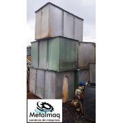 Caixa reservatório tanque aço Inox 2000L quadrado C1794
