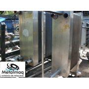 Chiller Trocador de calor inox pasteurizador 95 placas 80x188x135 cm- C1305