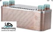 Evaporador trocador placas chiller D 75.000kcal 25TR C2650