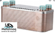 Evaporador trocador placas chiller s 30.000kcal 10TR C2647