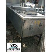 mesa para self service buffet de inox aquecimento - C648