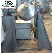 Misturador de pó inox duplo cone 150 litros - C6005