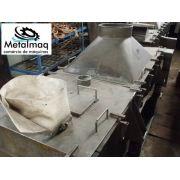 Peneira Vibratória para plástico de inox reciclagem 2000x700-Cód 428