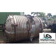 Reator aço inox 8000 Litros Misturador encamisado C1788