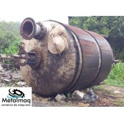 Reator aço inox 15000 litros Misturador encamisado - C6050