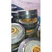 Rodinhas ferro plástico para carrinho o 2000 kg o par C1661