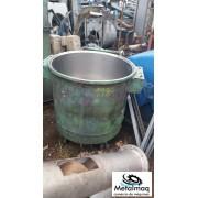 Tacho de inox 300 litros 75dx65a C1984
