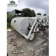 Tanque batedor misturador 7000 litros 5cv aço carbono C6073