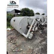 Tanque batedor misturador 7000 litros 5cv aço carbono C6084