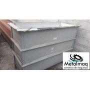 Tanque de banho quimico plástico PP e PE  0,60 x1x1,5m C1967