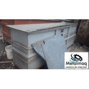 Tanque de banho quimico plástico PP e PE 0,60x1x2,98m C1966
