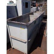 Tanque de banho quimico plástico PP e PE 1,10x0,76x3,1 C1929