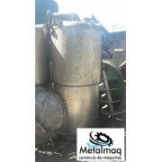 Tanque Reator de aço inox Misturador encamisado 1200 Lts- C716