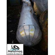Coluna de destilação trocador calor inox 208cm Comp 50Ø C405