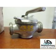 """válvula inox sanitária pasteurizador Laticinio 2"""" C1311"""