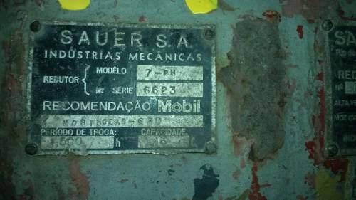 Redutor De Velocidade Sauer 1:1 Para Motor Elétrico- C809  - Metalmaq