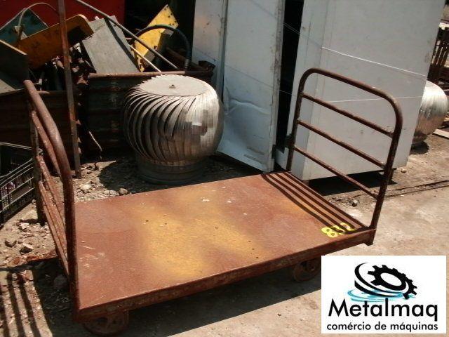 Carrinho De 4 Rodas Aço Carbono - C831  - Metalmaq