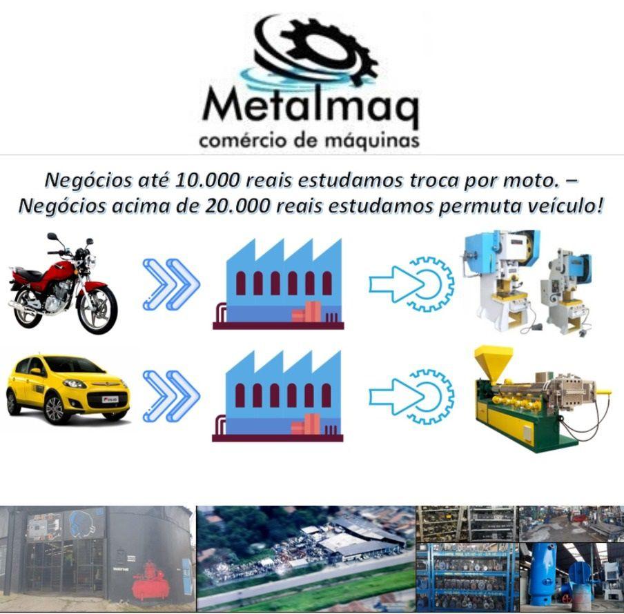 Prensa Borracha 40x20 hidráulica Automática - C1842  - Metalmaq