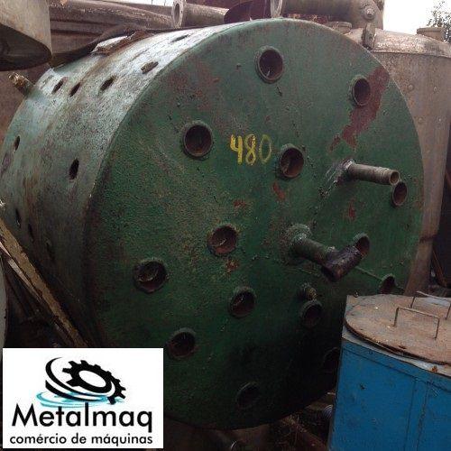 Reator De Inox Encamisado Misturador 1600 Litros- C480  - Metalmaq