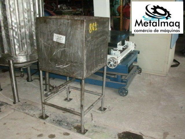 Tanque De Inox 216 Litros 60x60x60cm - C861  - Metalmaq