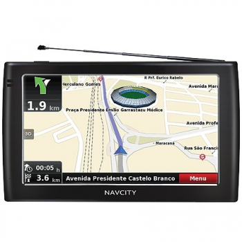 Saldão!!! GPS Way 75 Com TV Digital - Tela de 7 LCD Touchscreen - Navcity