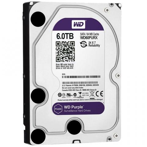 Hard Disk 6TB Purple Sata III 64MB WD60PURX - Western Digital