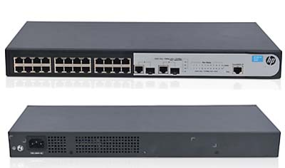 Switch1910-24, 24 portas 10/100Mbps, 2SFPGB JG538A - HP