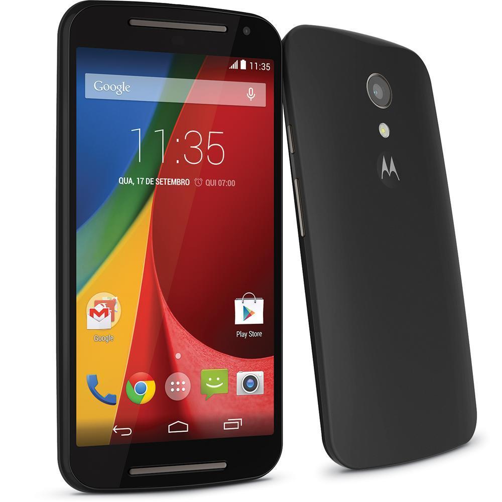 Smartphone Novo Moto G Dual Chip XT 1068 Android 4.4 Tela 5 8GB 3G Wi-Fi Câm de 8MP Preto - Motorola
