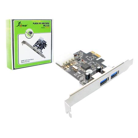 Placa PCI-Express C/2 Saídas USB 3.0 HB-T75 PC0040 - Knup