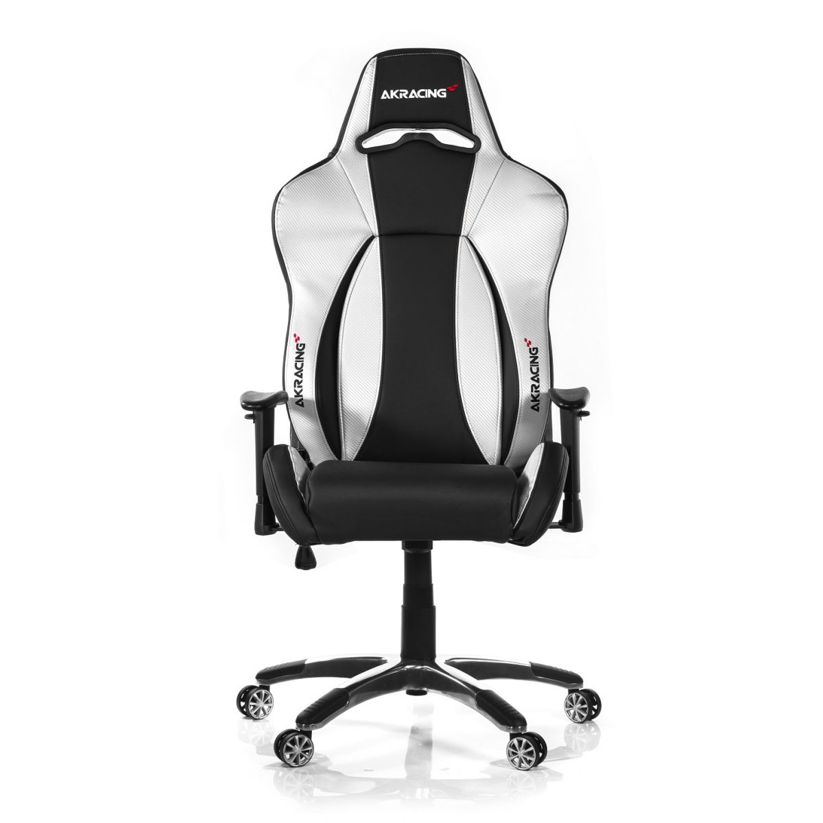 Cadeira AKracing Premium Black/Silver V2 AK-7002-BS - AKracing