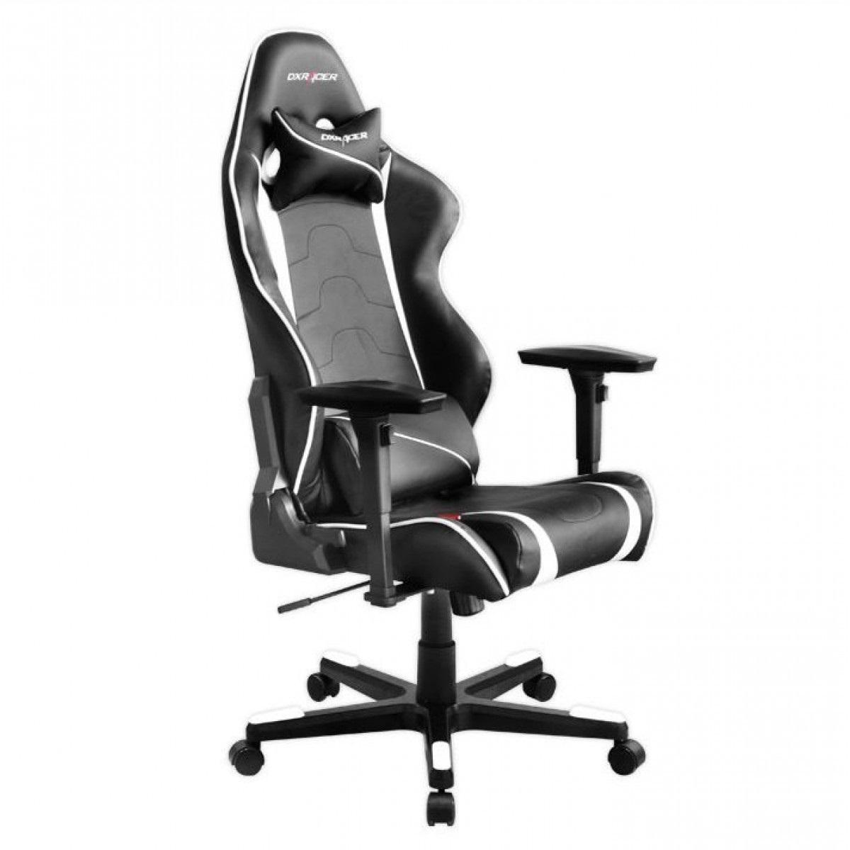 Cadeira R-Series OH/RF8/NW Preto/Branco - DXRacer