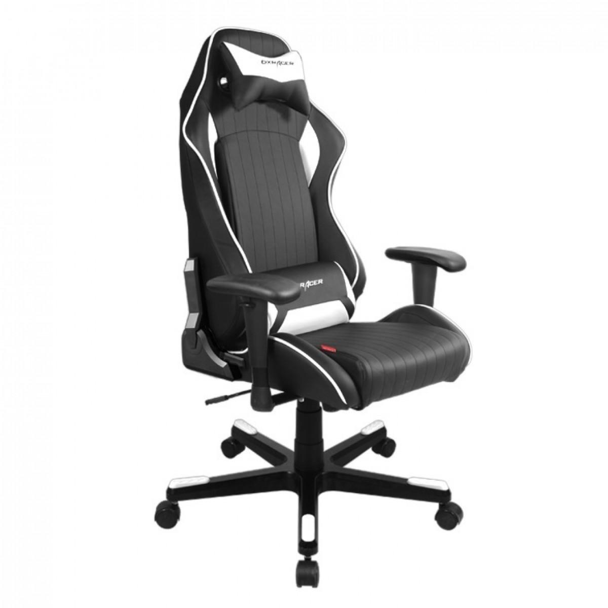 Cadeira D-Series OH/DF51/NW Preto/Branco - DXRacer