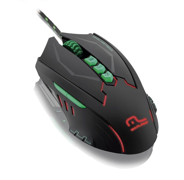 Mouse Gamer Metal War 2500DPI 8 Botões com LED MO218 - Multilaser