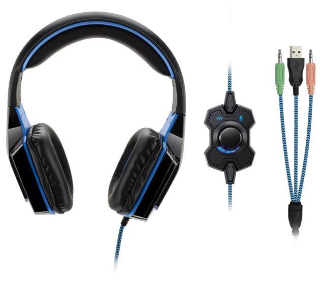 Fone de Ouvido Dual Shock Gamer USB/P2 PH118 - Multilaser